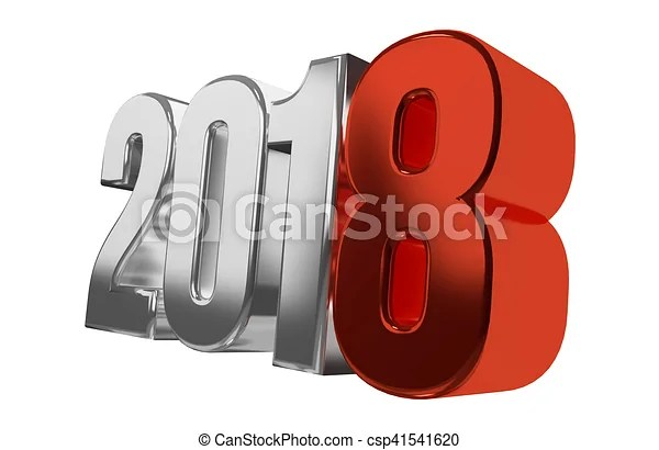 2018 happy new year symbol 3d render  2018 happy new year symbol 3d render   csp41541620