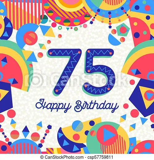 https www canstockphoto com 75 seventy five year birthday party 57759811 html