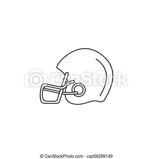 American Football Helmet Icon Outline Style American Football Helmet Icon Outline American Football Helmet Vector Icon For