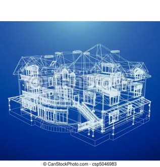 Architecture blueprint of a house  Architecture blueprint of a house     Architecture Blueprint Of A House   csp5046983