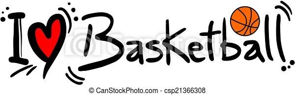 Download Basketball love. Creative design of basketball love.