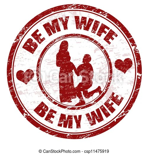 Download Be my wife stamp. Red grunge rubber stamp with the text be ...