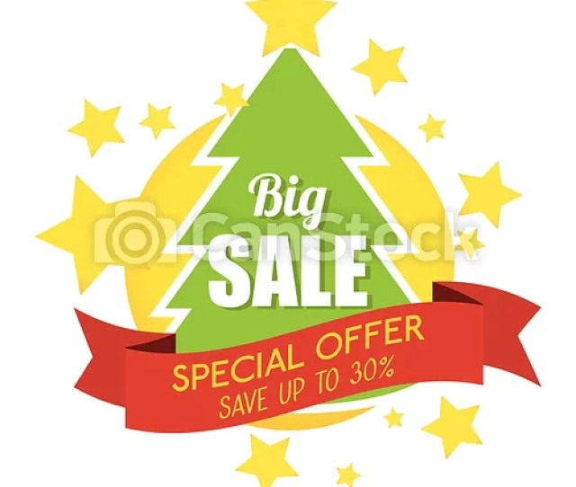 Big Sale Special Offer Merry Christmas Tree Banner Csp