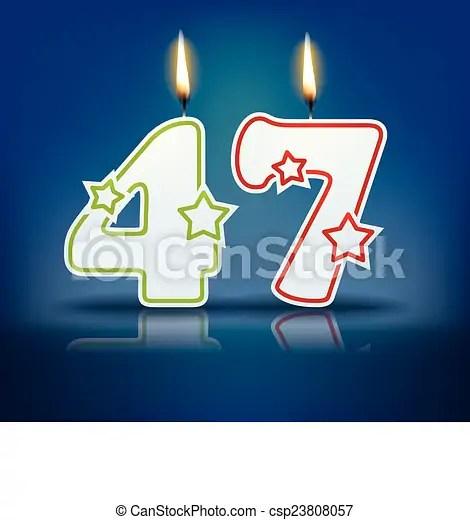 Birthday Candle Number 47 Birthday Candle Number With
