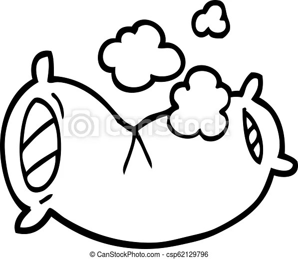 https www canstockphoto com black and white cartoon fluffy pillow 62129796 html