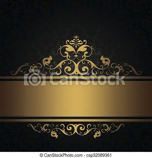 https www canstockphoto com black vintage background with gold 32089361 html