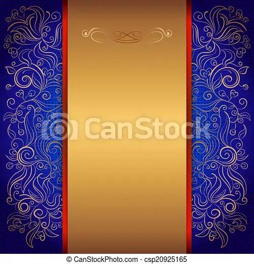 https www canstockphoto com blue royal invitation card 20925165 html