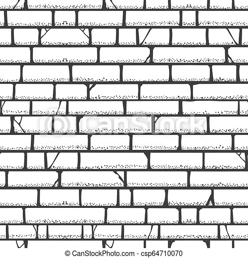 Brick Wall Sketch Pattern Walls Vector Blank Building Bricks Texture Frame White Background Canstock