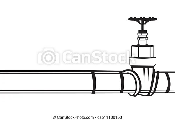 Clipart Vector Of Industrial Pipeline And Gas Valve