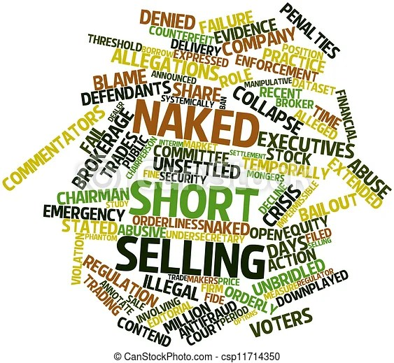 Word cloud for Naked short selling - csp11714350