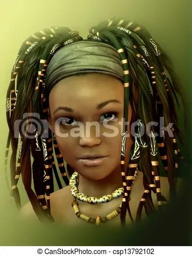 Stock Illustration Of Caribbean Girl 3d Rendering