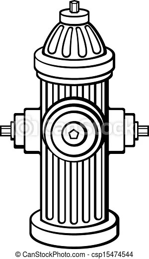 EPS Vector Of Fire Hydrant Csp15474544 Search Clip Art