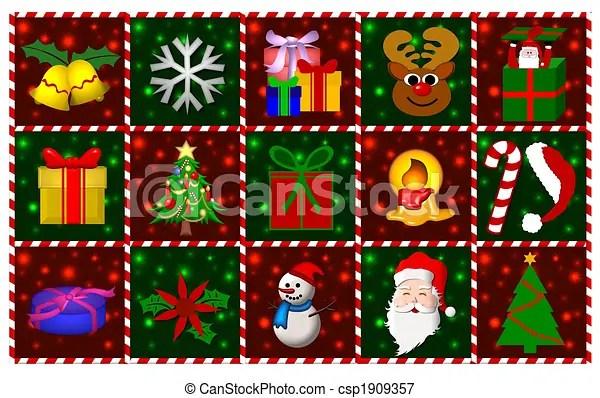 Stock Illustrations Of Christmas Symbols Collage
