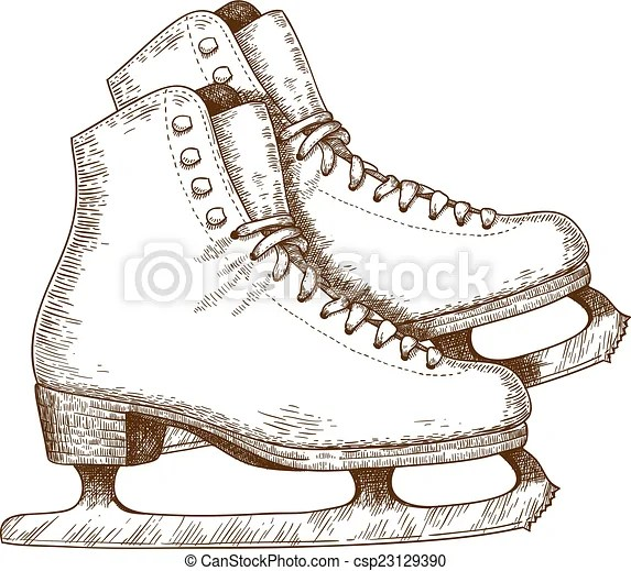 Image result for clipart of an old fashioned ice skate