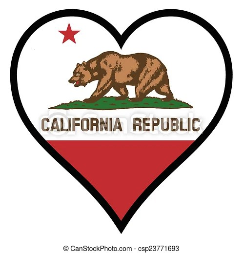 Download EPS Vectors of Love California - The flag of the state of ...