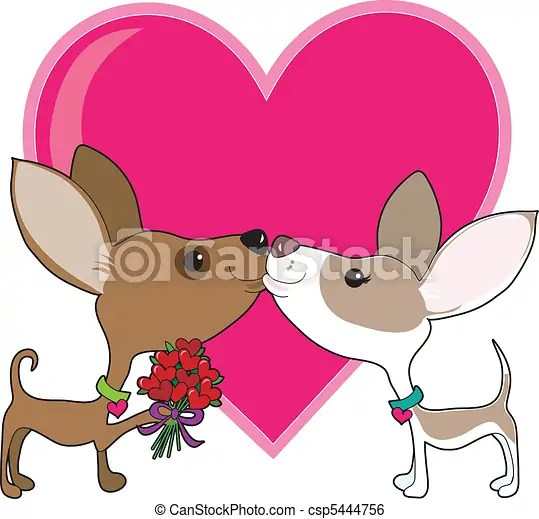 Download Clip Art Vector of Chihuahua Love - A chihuahua is giving ...