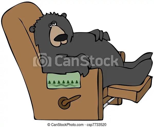 Stock Illustration of Hibernating Bear - This illustration ... (450 x 376 Pixel)