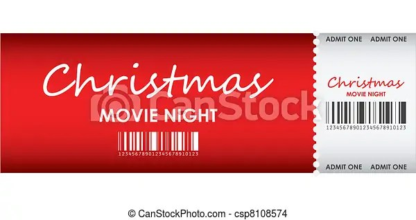 EPS Vector of special red ticket for Christmas movie night ... (450 x 244 Pixel)