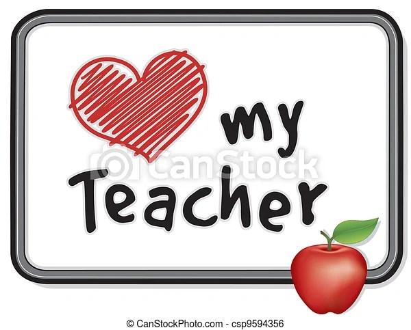 Clip Art de vectores de amor, mi, profesor, whiteboard ... (450 x 367 Pixel)
