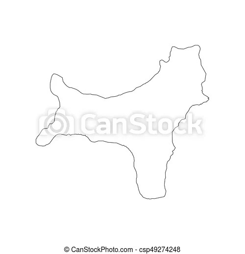 Christmas island map outline on the white background  vector     Christmas Island map outline   csp49274248