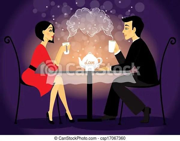 Dating Couple Scene Love Confession Vector Illustration