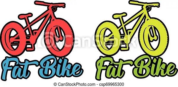 Fat Bike Fluo Vector Design Sticker Illustration Fat Bike Fluo Vibrant Color Vector Design Sticker Illustration