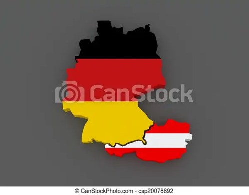 Germany and austria  map  3d stock illustration   Search Vector     Germany and Austria  map    csp20078892