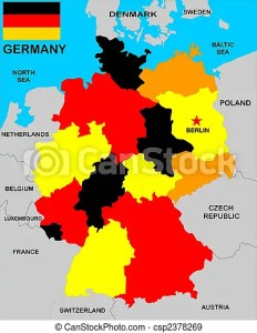 Germany map  A vectorial map of germany with neighbours  Germany Map   csp2378269