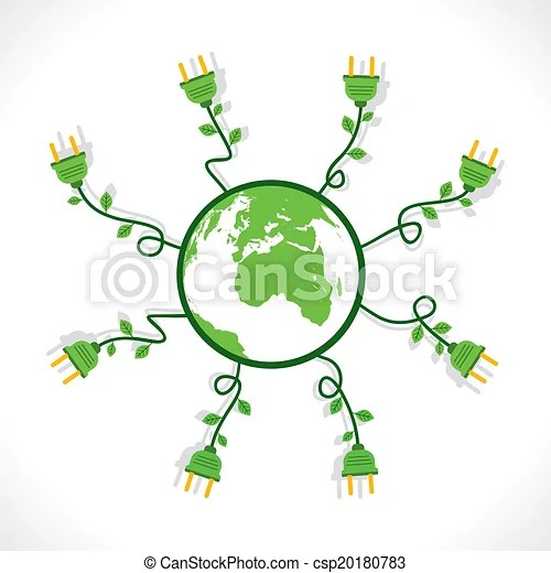 Go Green Concept Go Green Energy Or Save Earth Concept Vector