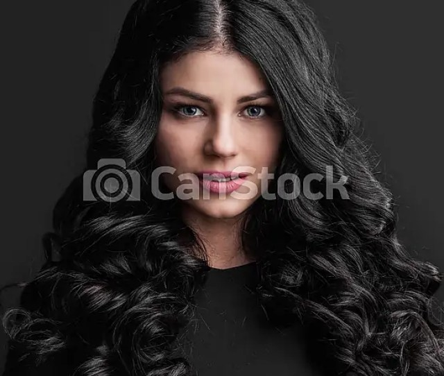 Gorgeous Brunette With Curly Hair Csp43664506