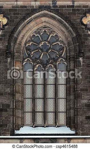 Gothic Arch Architectural Detail Gothic Window Prague