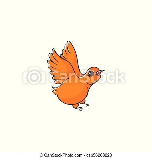 Hand Drawing Of Cute Little Flying Bird Flat Cartoon Vector Illustration On Flying Bird Imitating A Kid Child Drawing