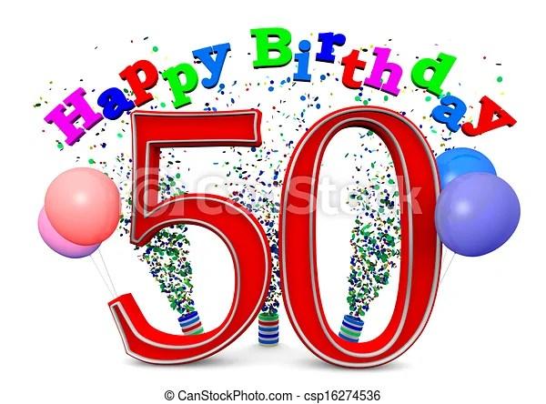 Happy 50th Birthday Canstock