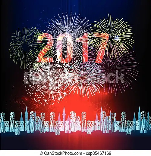 Happy new year 2017 with fireworint  Happy new year 2017 with     Happy New Year 2017 with fireworint   csp35467169