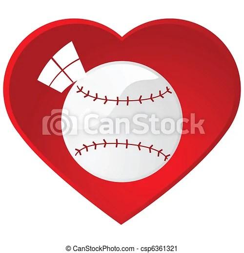 Download I love baseball. Glossy illustration of a baseball inside ...