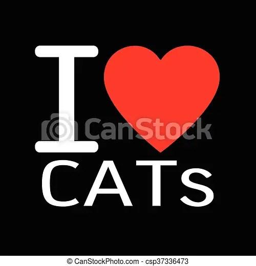 Download I love cats lettering illustration design with sign.