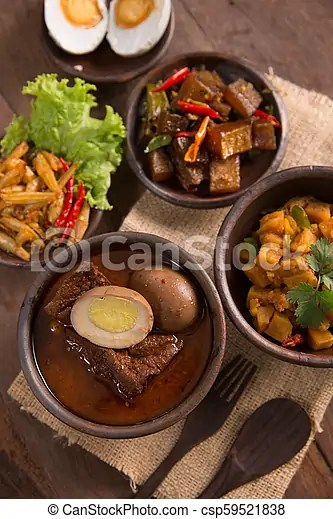 Indonesian Or Javanese Traditional Food Portrait Of Indonesian Traditional Food Various Delicious Culinary Canstock