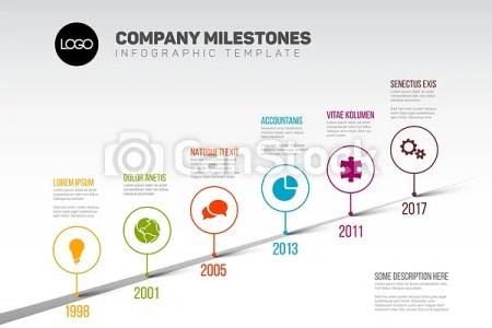 Infographic timeline template with pointers  Vector infographic     Infographic Timeline Template with pointers   csp47435762
