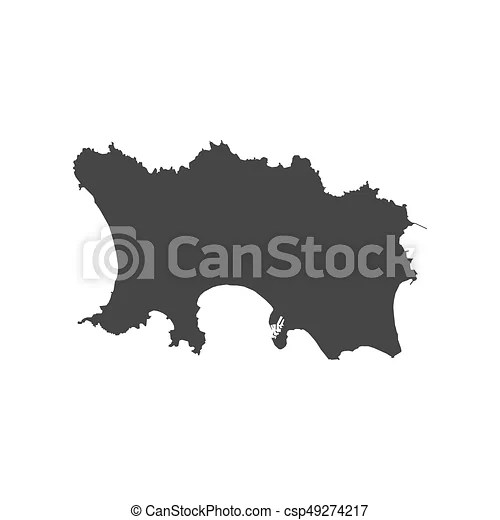 Jersey map outline on the white background  vector illustration  Jersey map outline   csp49274217