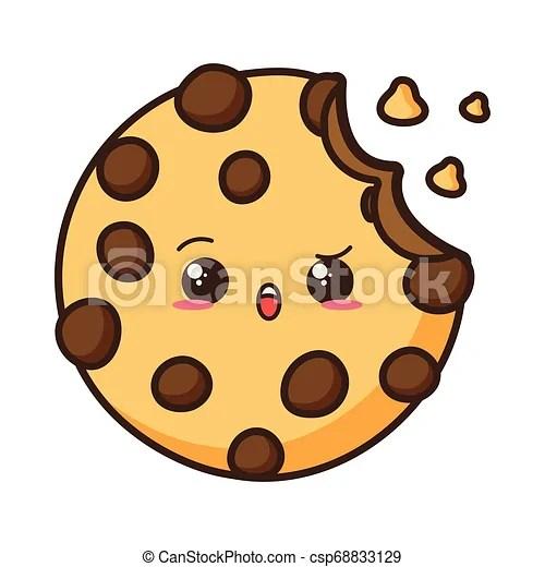 Kawaii Fast Food Kawaii Cookie Fast Food Cartoon Vector Illustration Canstock
