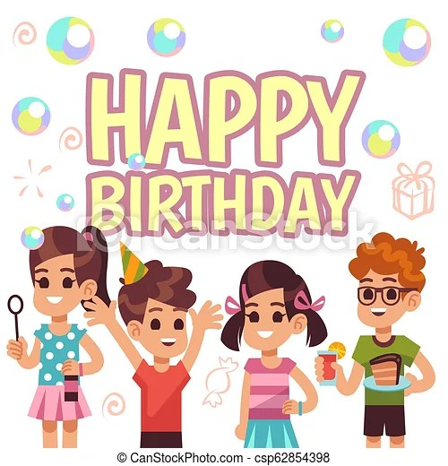 https www canstockphoto com kids birthday poster children on 62854398 html