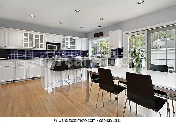 https www canstockphoto com kitchen with blue tile backsplash 3393815 html