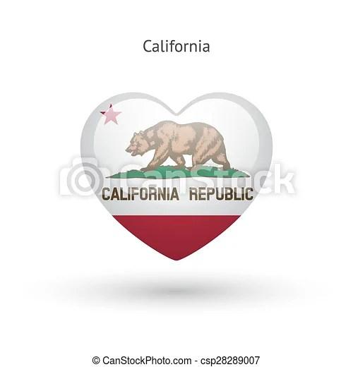Download Love california state symbol. heart flag icon. vector ...