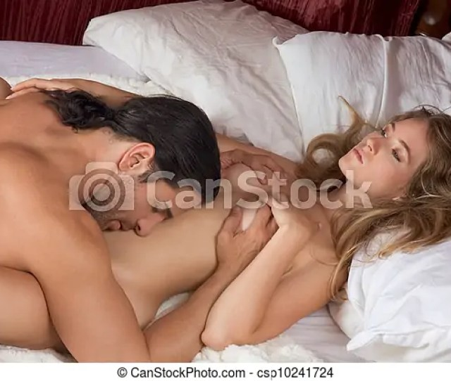 Loving Young Nude Erotic Sensual Couple In Bed Csp10241724