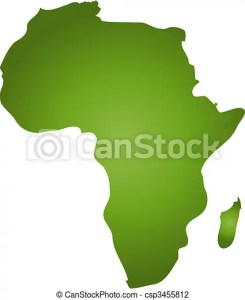 Map of africa  A stylized blank map of africa in green tone  all     Map of Africa   csp3455812