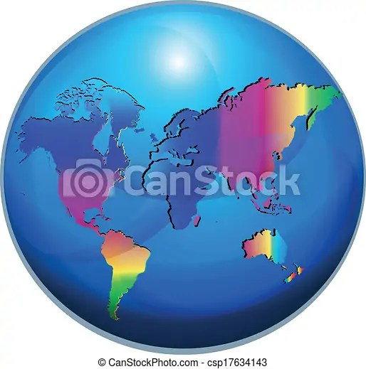 Map world globe vector  Map World Globe Vector