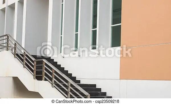 Modern Black Stairs And Metal Handrail | Modern Black Metal Stair Railing | Balcony | Really Thin | Outdoor | Metal Mesh | Dark Wood