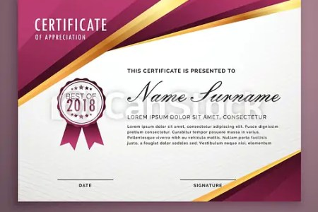 Modern certificate template design with golden stripes  modern certificate template design with golden stripes   csp42020612