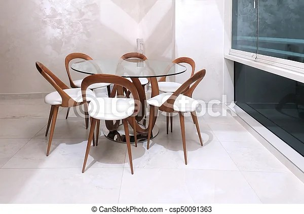 https www canstockphoto com modern dining table 50091363 html