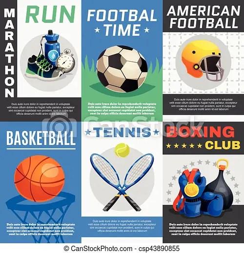 https www canstockphoto com modern sport posters set 43890855 html